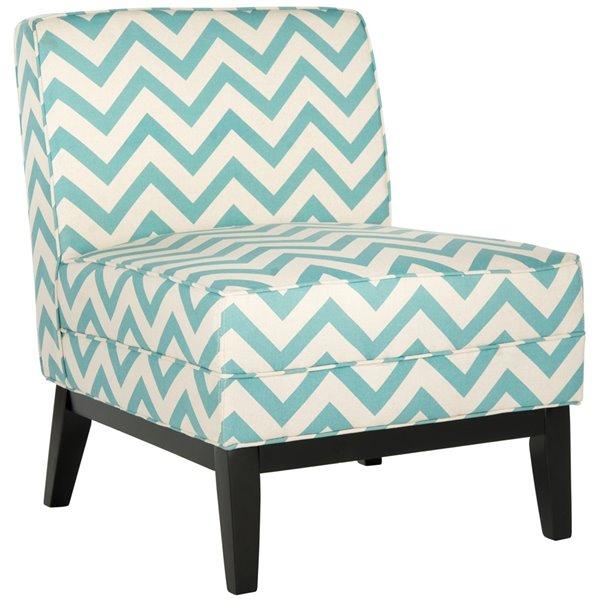 Safavieh Armond Chair - Blue/White