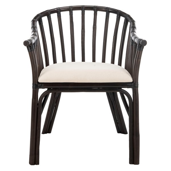Safavieh Gino Arm Chair - Black/White
