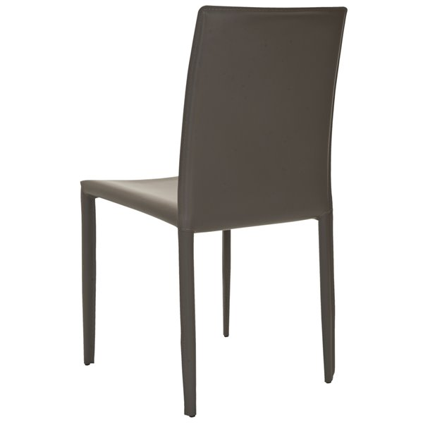 Safavieh Karna 19-in H Dining Chair  - Grey Seat and Finish (Set Of 2)