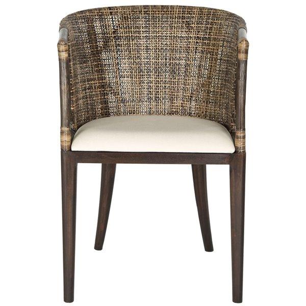 Safavieh Beningo Arm Chair - Brown/Black