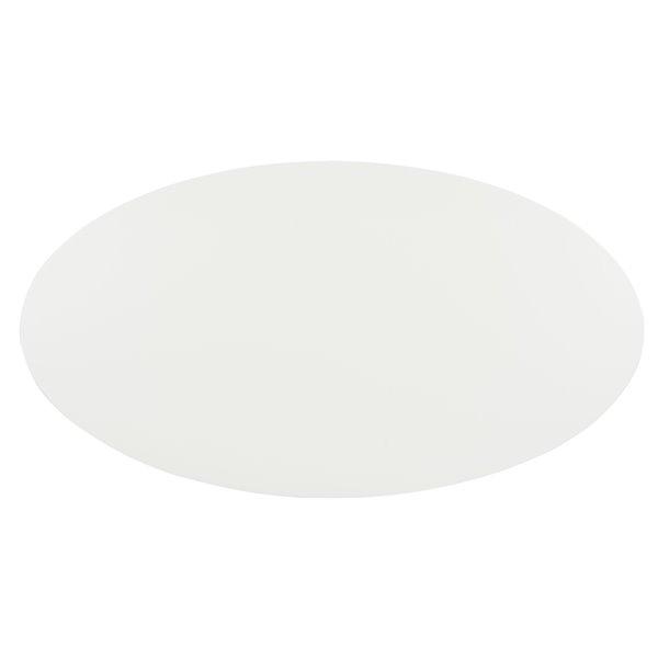 Safavieh Woodruff Oval Coffee Table - White Top and Natrual Wood Legs