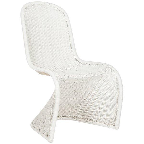 Safavieh Tana Wicker Side Chair - White (Set of 2)