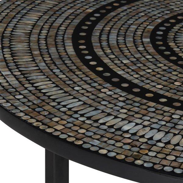 Safavieh Cheyenne Grey Mosaic Round Coffee Table - 39.8-in Diameter