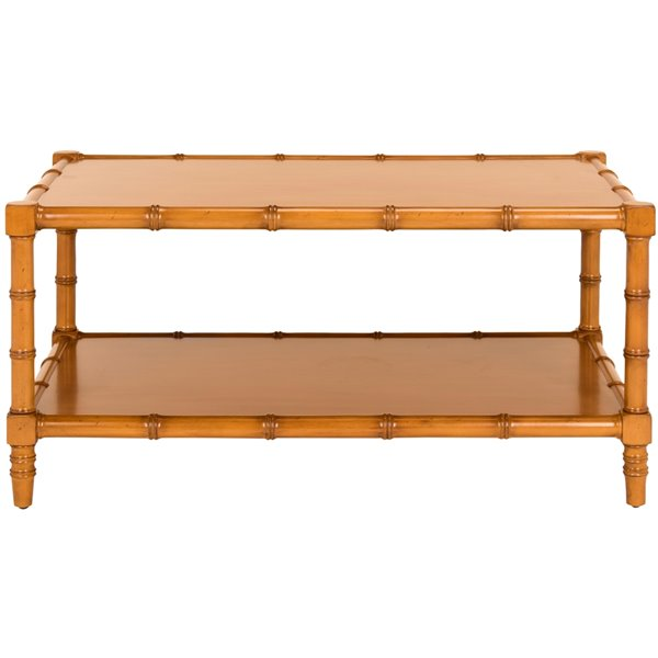 Safavieh Noam Modern Coastal Rectangular Coffee Table - Brown