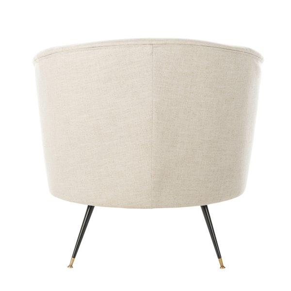 Safavieh Arlette Velvet Retro Mid Century Accent Chair - Light Grey
