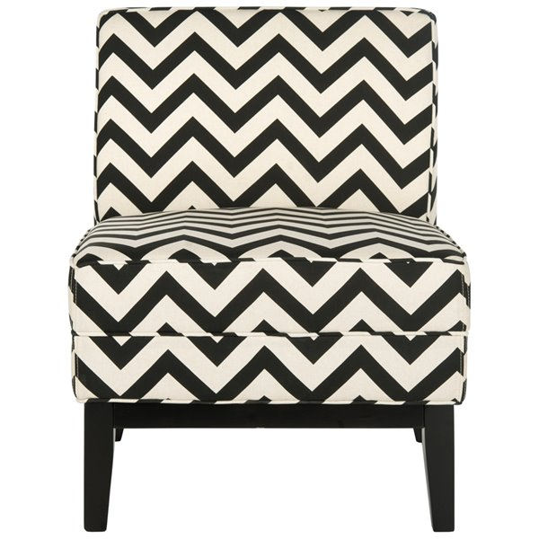 Safavieh Armond Chair - Black/White