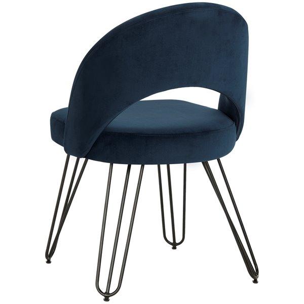 Safavieh Jora Velvet Retro Dining Chair - Navy (Set of 2)