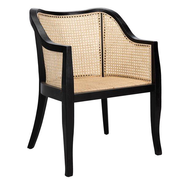 Safavieh Maika Dining Chair  - Black Seat and Finish