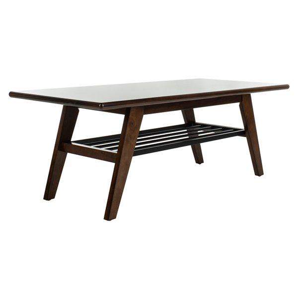 Safavieh Seth 2 Tier Rectangular Coffee Table - Dark Walnut Finish