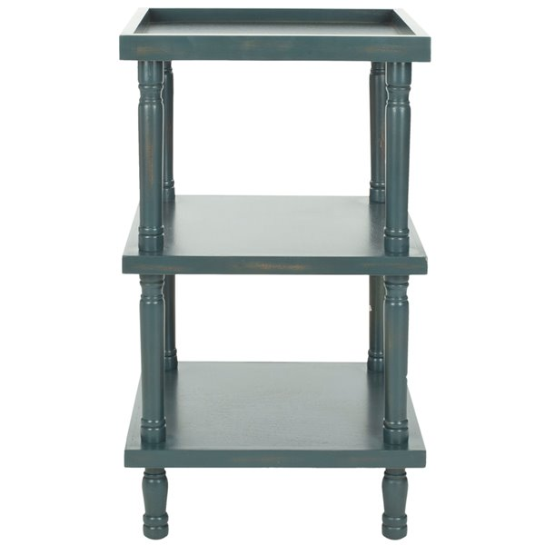 Safavieh Esmerelda Wood Accent Table with Steel Teal Finish