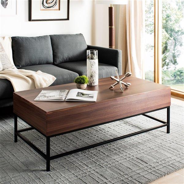Safavieh Gina Contemporary Lift-Top Rectangular Coffee Table - Dark Oak Finish