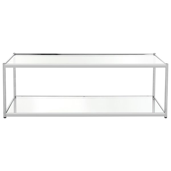 Safavieh Zola Rectangular Glass Coffee Table with Chrome Finished Frame