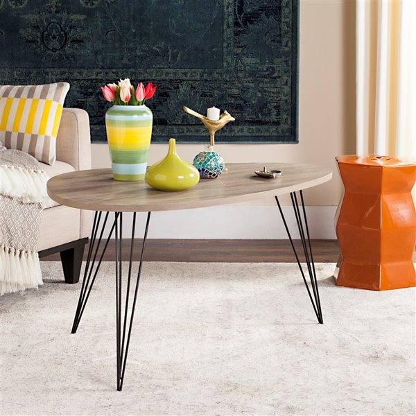Safavieh Rocco Retro Midcentury Wood Coffee Table - Natural - Triangular Shape