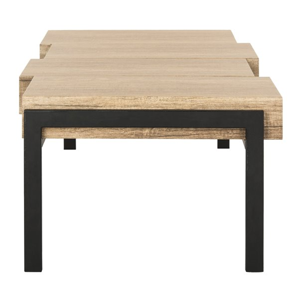 Safavieh Alexander Rectangular Contemporary Rustic Coffee Table