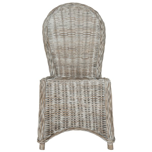 Safavieh Idola 19-in H Wicker Dining Chair  - Natural Seat and Finish (Set Of 2)