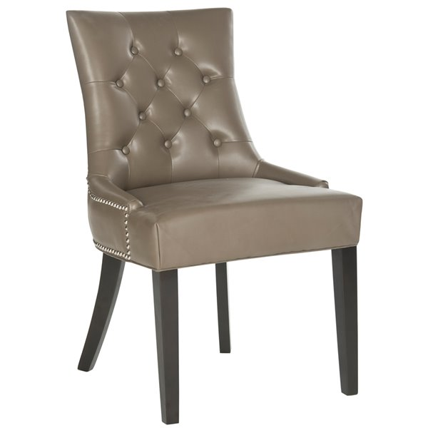 Safavieh Harlow 19-in H Tufted Ring Chair  - Clay Seat and Rustic Black Finish (Set Of 2)