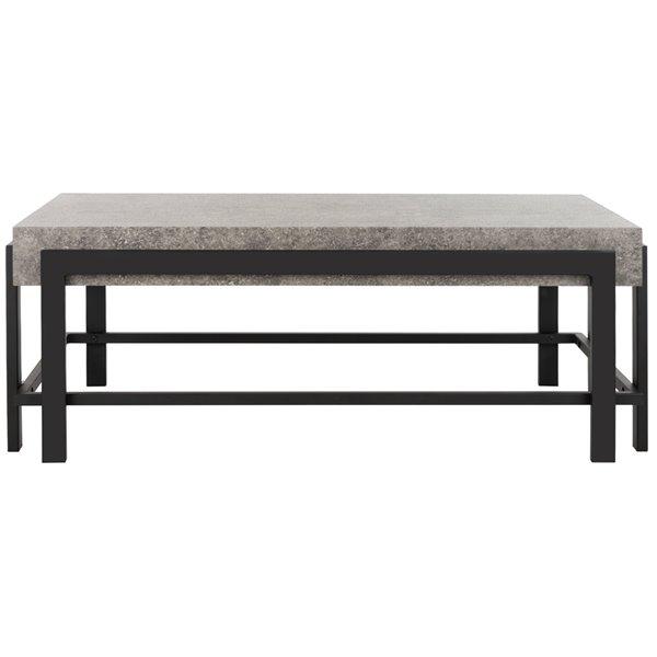 Safavieh Oliver Rectangular Contemporary Coffee Table - Grey