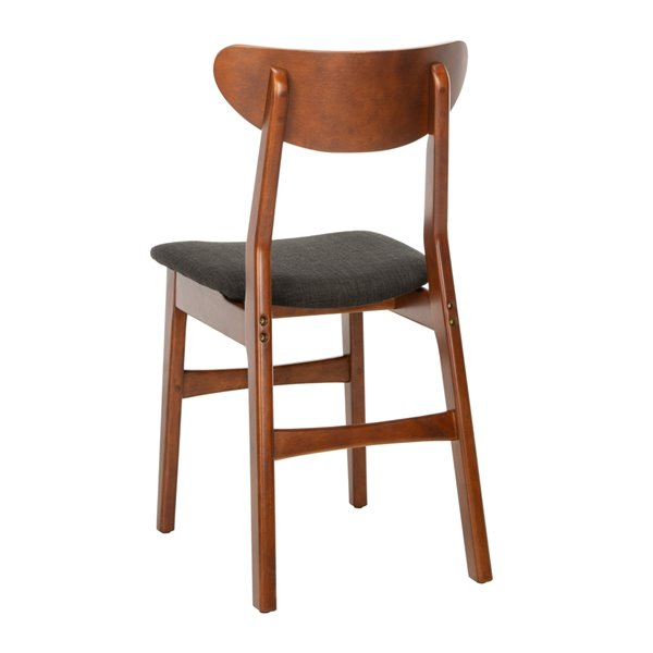 Safavieh Lucca Retro Dining Chair  - Cherry Seat and Finish (Set Of 2)
