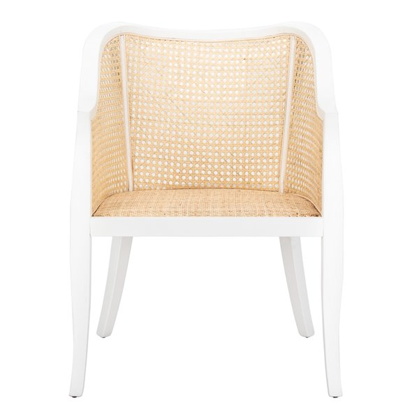 Safavieh Maika Dining Chair  - White Seat and White Finish
