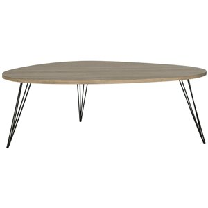 Safavieh Wynton Retro Midcentury Wood Coffee Table - Brown - Triangular Shape