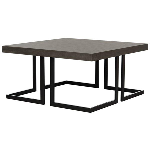 Safavieh Amalya Modern Midcentury Wood Coffee Table - Grey - Square 31.5-in