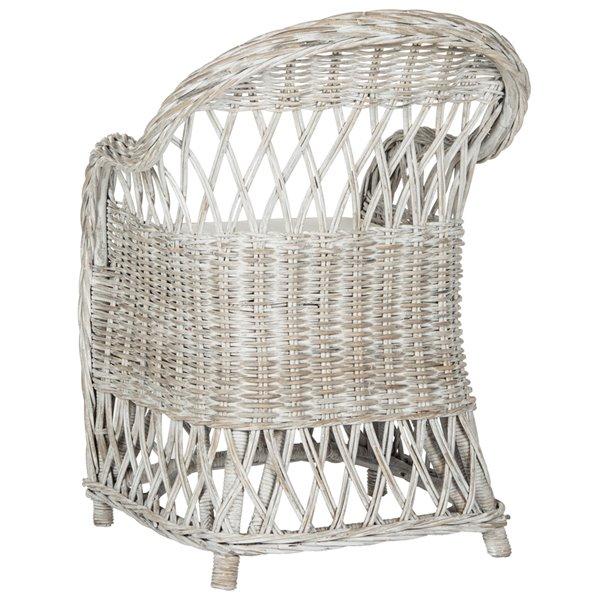 Safavieh Inez Wicker Club Chair - White Wash