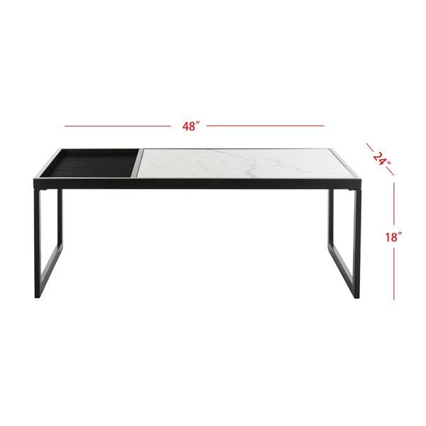 Safavieh Zuri Rectangular Coffee Table - Black/White