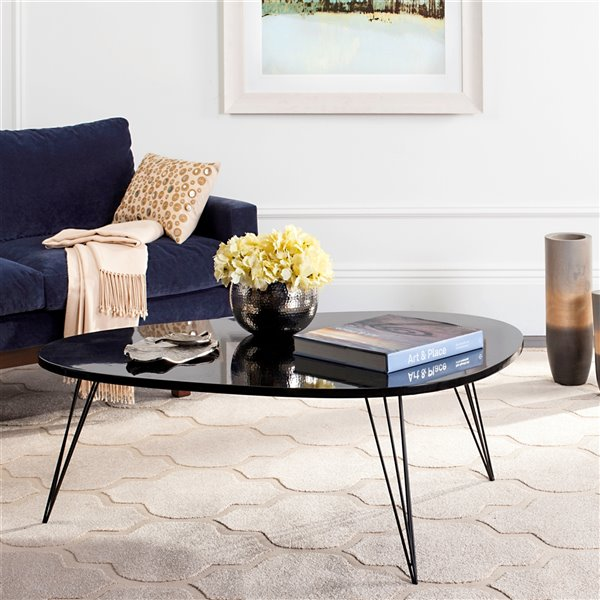 Safavieh Wynton Retro Midcentury Lacquer Coffee Table - Black - Triangular Shape