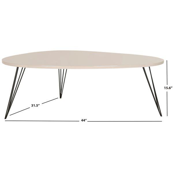 Safavieh Wynton Retro Midcentury Rectangular Lacquer Coffee Table - Taupe