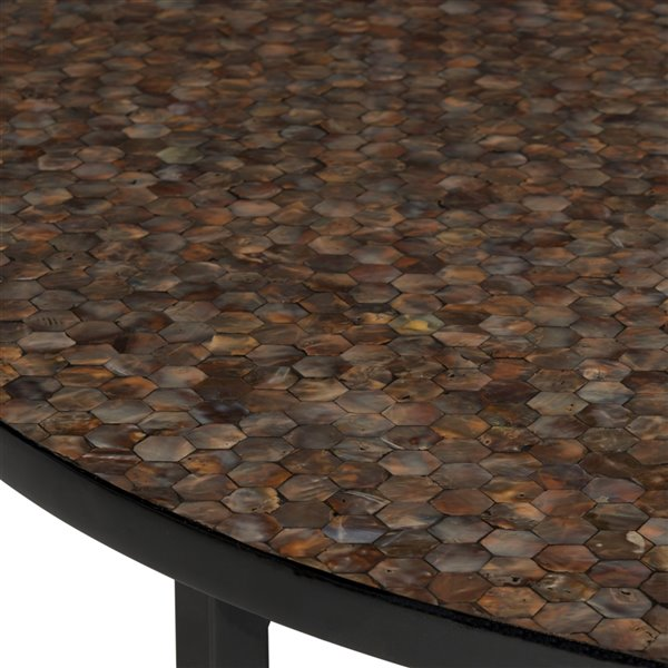Safavieh Cheyenne Brown Mosaic Round Coffee Table - 39.8-in Diameter