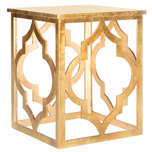 Safavieh Milo End Table with Gold Leaf Finish