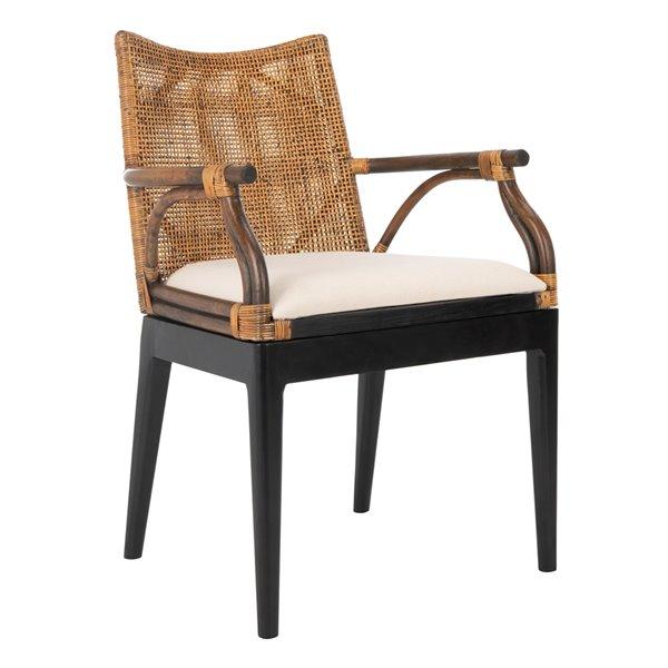 Safavieh Gianni Arm Chair - Brown/White