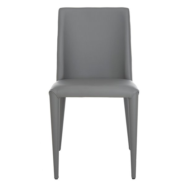 Safavieh Garretson 18-in H Leather Side Chair  - Grey Seat Finish (Set Of 2)