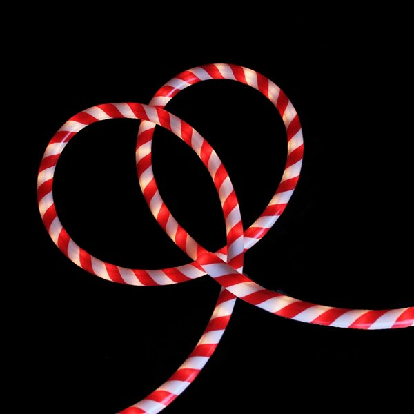Northlight 18-ft Red and White Striped Candy Cane Christmas Rope Light