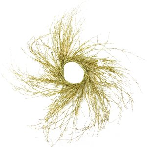 Northlight Pre-lit Gold Glittered Twig Artificial Xmas Wreath - 36-in