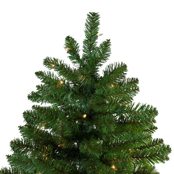 Northlight Pre-Lit Slim Eastern Pine Artificial Christmas Tree - Clear Lights - 10-ft