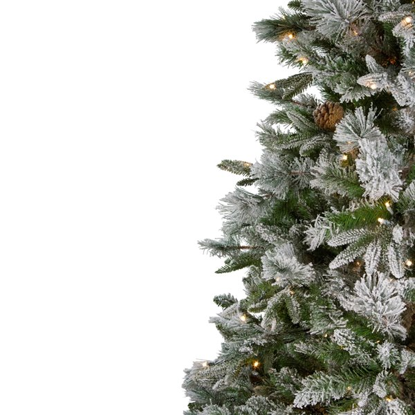 Northlight Pre-Lit LED Full Mixed Emerald Angel Pine Artificial Xmas Tree -  6.5-ft