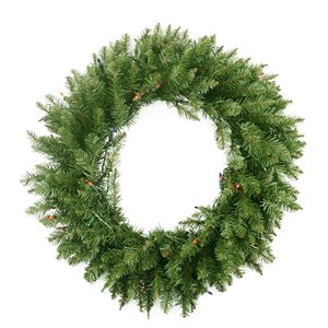 Northlight Pre-Lit Northern Pine Artificial Christmas Wreath and Multi-Color Lights - 24-in
