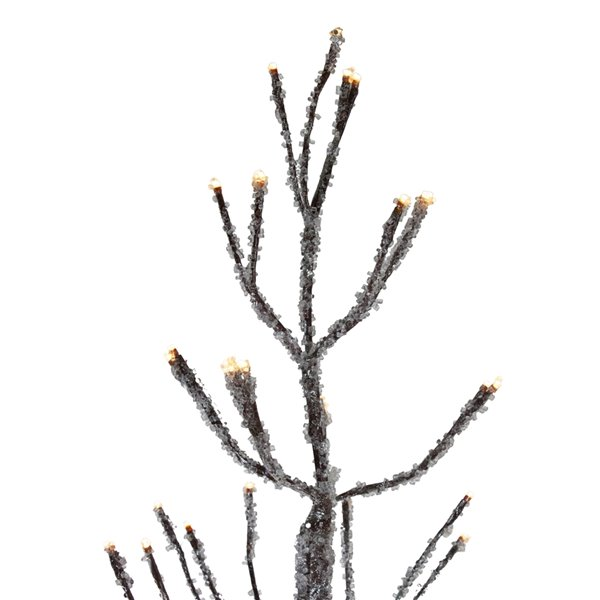 Northlight Pre-Lit LED Brown Artificial Christmas Tree with Icicle Lights - 6-ft