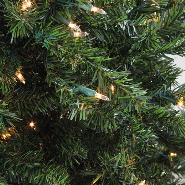 Northlight Pre-Lit Medium Canadian Pine Artificial Christmas Tree - Clear Lights - 8-ft