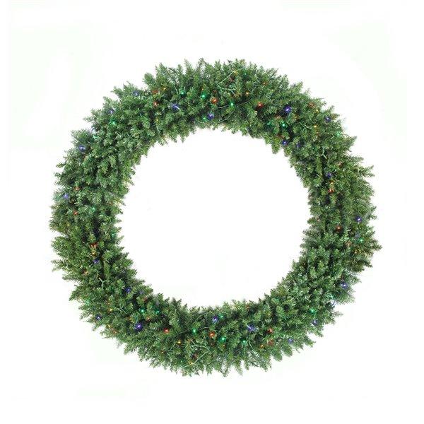 Northlight Pre-Lit Buffalo Fir Commercial Artificial Xmas Wreath - 5-ft