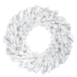 Northlight White Canadian Pine Artificial Christmas Wreath - Unlit - 24-in