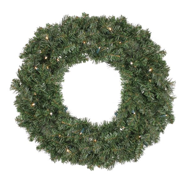 Northlight Pre Lit LED Canadian Pine Artificial Christmas Wreath - 24-in