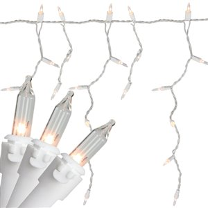 Northlight 300 Christmas Lights Clear Mini Icicle  - 13.5 ft White Wire