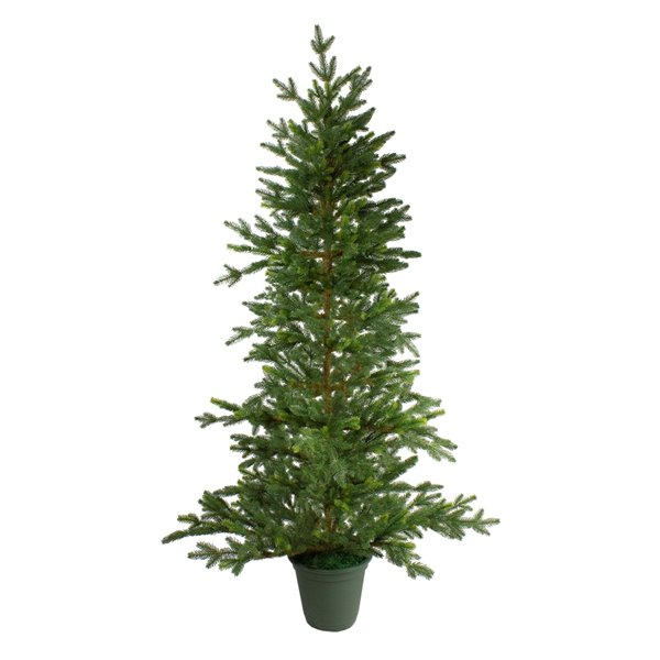Northlight Potted Noble Pine Artificial Christmas Tree - Unlit - 4-ft