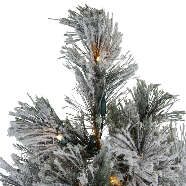 Northlight Pre-Lit LED Black Spruce Artificial Christmas Tree - Clear Lights - 4.5-ft