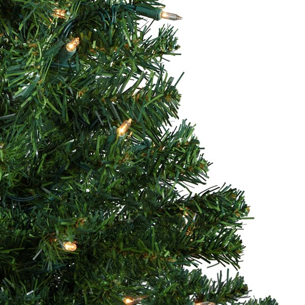 Northlight Pre-Lit Medium Mixed Classic Pine Artificial Christmas Tree - Clear Lights - 3-ft