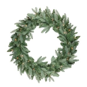 Northlight Pre-Lit Washington Frasier Fir Artificial Xmas Wreath - 36-in