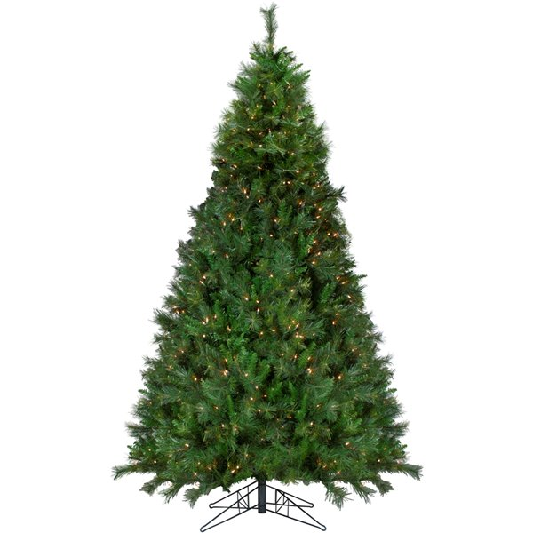 Northlight Pre-Lit Medium Canyon Pine Artificial Christmas Tree - Clear Lights - 9-ft