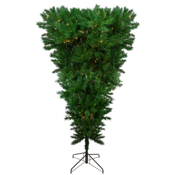 Northlight Pre-lit Sugar Pine Artificial Upside Down Christmas Tree - Clear LED Lights